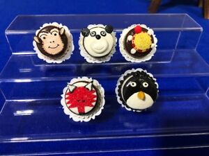 Handmade-Miniature-Dollhouse-Cartoon-Animal-Cakes-Clay-5-pcs-H