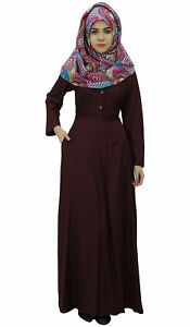 f1586fef5f1 Bimba Women s Long Sleeve Muslim Islamic Abayas Maxi Jilbab Dress ...
