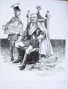 ILLUSTRATIONS-WORLD-WAR-1-CARICATURE-KAISER-BILL-AND-SON-INK-L-F-EVERETT-1915