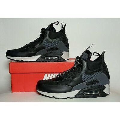 NIKE MEN'S AIR MAX 90 SNEAKERBOOT WINTER BLACK/GREY MULTIPLE SIZES 684714 001