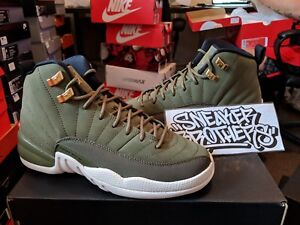 55b0db64f5bed0 Nike Air Jordan Retro XII 12 CP3 Class of 2003 Olive Sail 153265-301 ...