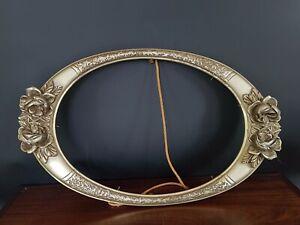 Bel-Ancien-Cadre-Ovale-Argente-TBetat-Nice-silvered-frame-Antique