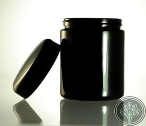 Ultraviolet-250ml-Jar-Herb-Kitchen-Storage-UV-Screw-Top-Glass-Jars-4-PACK