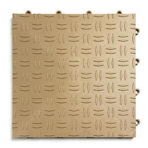 GarageTrac in BEIGE- Pack of 24- Diamond Garage Floor Tile  MADE IN THE USA