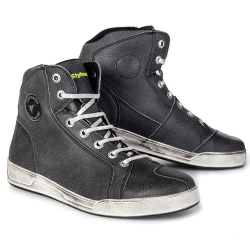 Grey Stylmartin Chester Ankle Waterproof Motorcycle Boots