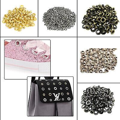 100pcs Gold Iron Eyelets Grommets Washers Craft Making Clothing Bags Decoration
