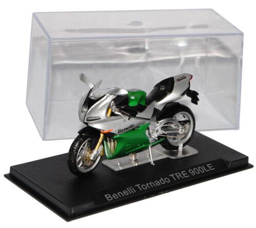 Benelli tornado tre 900le verde plata 1//24 modellcarsonline modelo moto con
