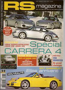 Rs Magazine 43 Porsche 964 Jubile 993 C4s 996 C4s Boxster 986 987 2.7 964 Rs92 Emballage De Marque NomméE