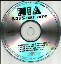 MIA w/ JAY Z Boyz 4TRX w/ RARE RADIO EDIT & INSTRUMENTAL PROMO DJ CD Single boys