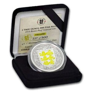 Gibraltar 1 Pound Argent Blason Jaune Be 1 Once 2018 Fd3nzt6a-07234047-638383839