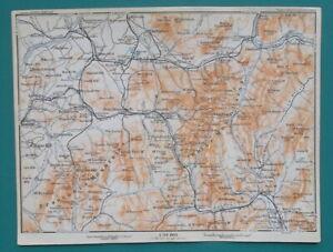 WHITE-amp-FRANCONIA-Mountains-New-Hampshire-1909-MAP-Baedeker-6-x-8-034-15-x-20-cm