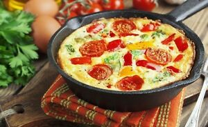 CAST-IRON-FRYING-PAN-SKILLET-20cm-TOP-DIAMETER-BRAND-NEW-W-HANDLE-STRONG-ROUND