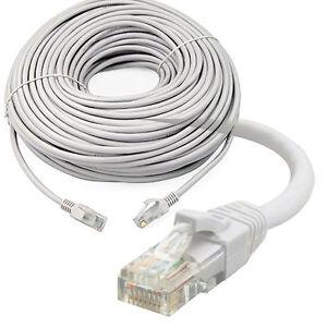 25m rj45 ethernet cat5e network cable lan utp patch lead for adsl modem cctv dvr ebay. Black Bedroom Furniture Sets. Home Design Ideas