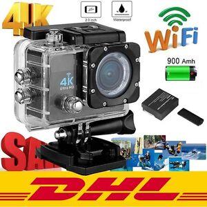 12MP 4K 2'' Ultra HD 1080P Sports WiFi Cam-Action-Kamera DV Videorecorder