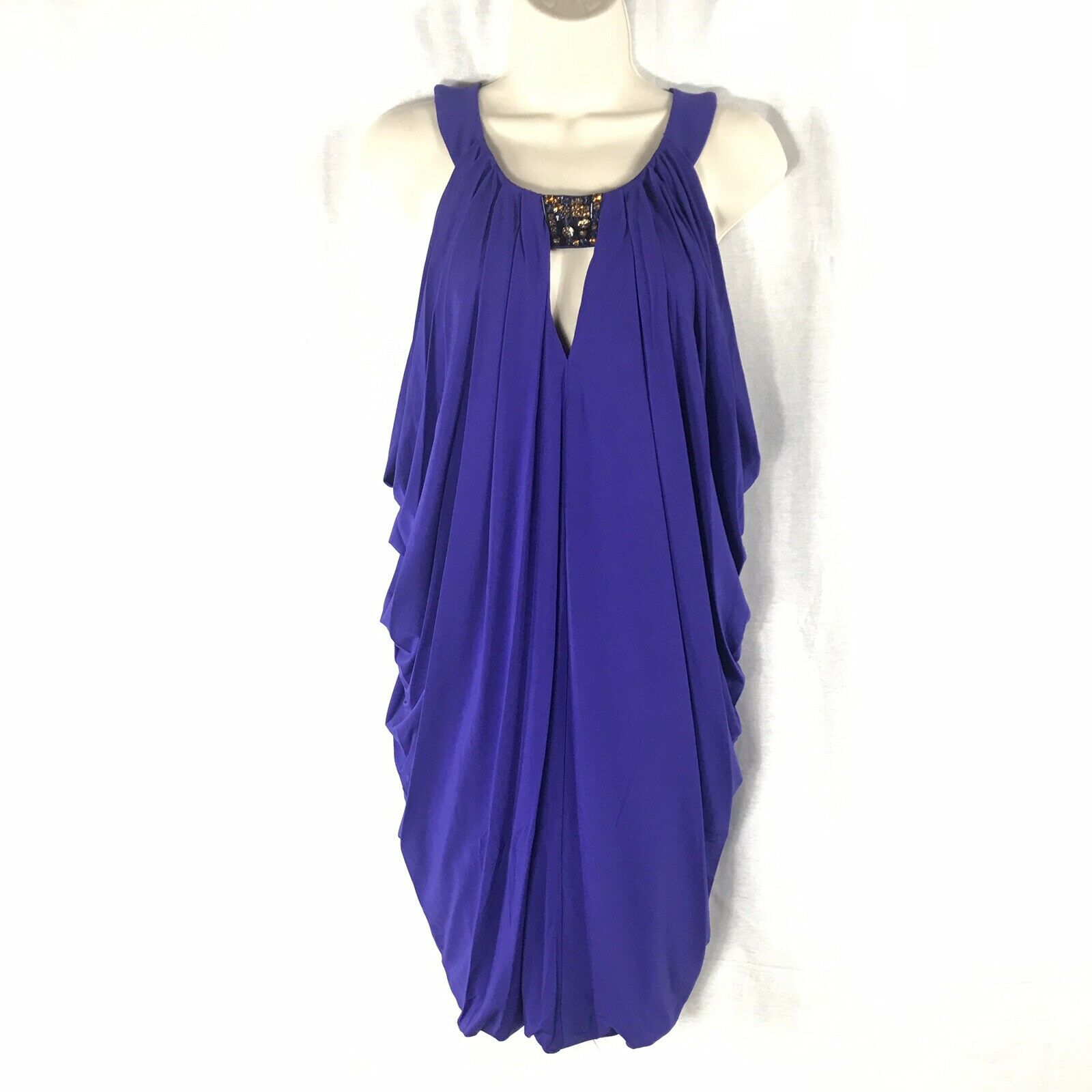 BCBG MAX AZRIA Dregal Blau Dress Größe Medium