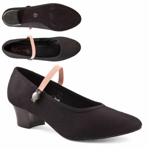 Taille 3 36 Noir DANSE DEPOT Talon Cubain toile caractère Chaussures de danse CSC
