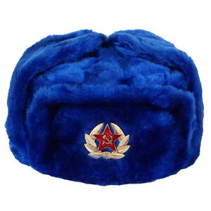 00191cd18c79e Image is loading RUSSIAN-MILITARY-WINTER-USHANKA-HAT-DARK-BLUE-WITH-