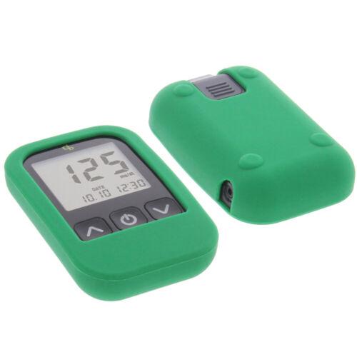 Tasche für Adia Diabetes Blutzuckermessgerät Schutz Hülle Silikon Silicon Grün