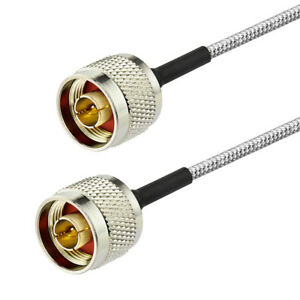 N-Male-to-Male-Connector-RF-Coaxial-Pigtail-Cable-RG402-30cm