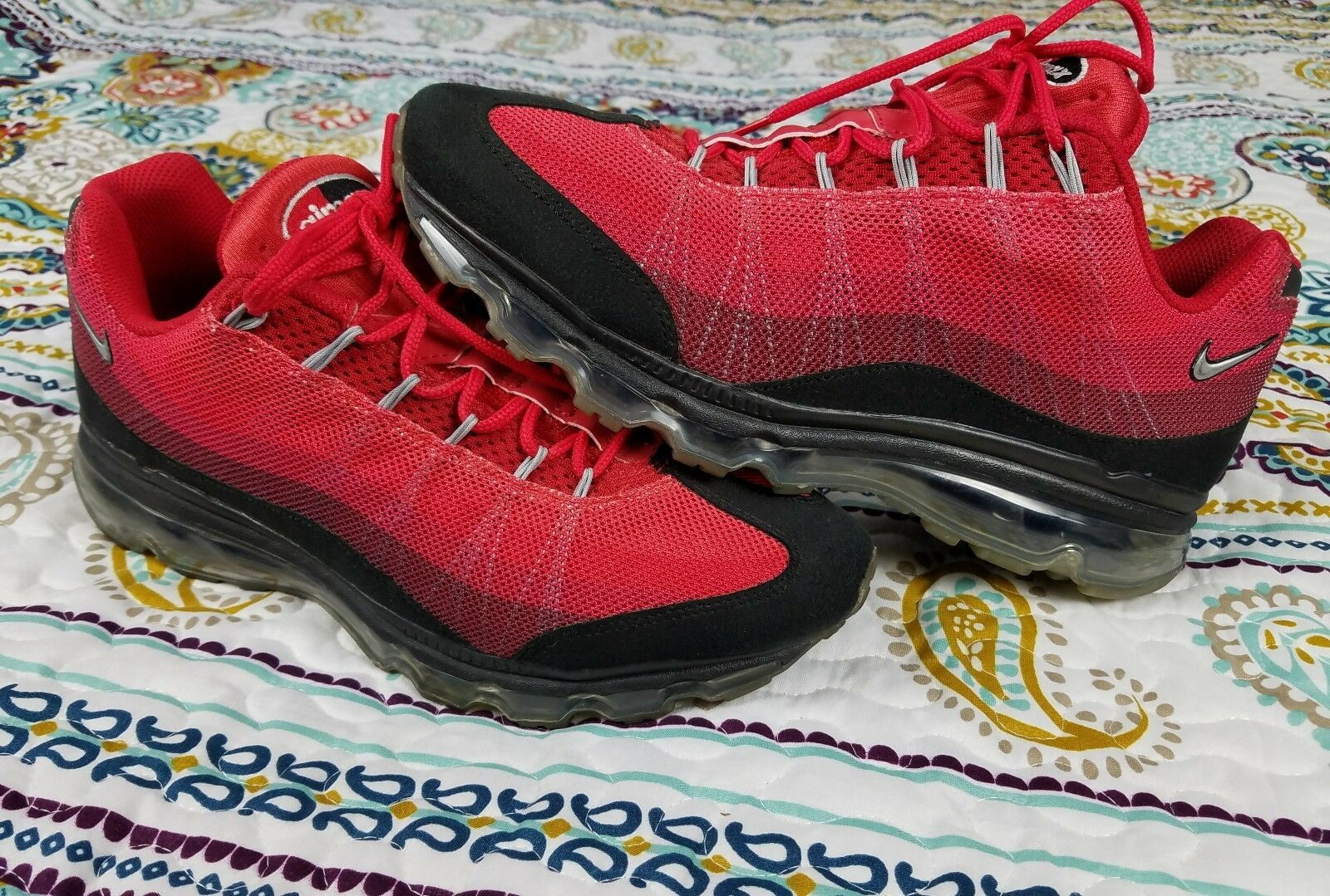 Nike Air Max 95 360 Dynamic Flywire sz 9.5 Running shoes Black & Red