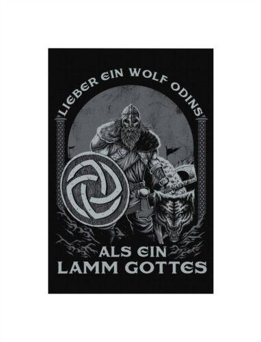 Lieber ein Wolf Odins  Premium LeinwandKeilrahmen Bild Gemälde Wandbild