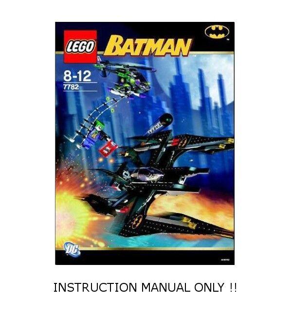 LEGO 7782 - BATuomo Batwing  The  Joker's Aerial Assault - INSTRUCTION uomoUAL ONLY  incentivi promozionali