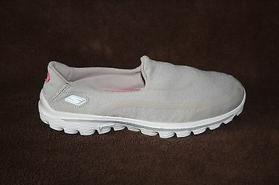 WOMENS SKECHERS GO WALK 2 SN13964 GRAY/&PINK WALKING SHOES-SEE SIZES i11a a
