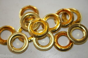 Nickel Brass Grommets with Rolled Rim Spur Washers #5 Top Quality 25 Sets