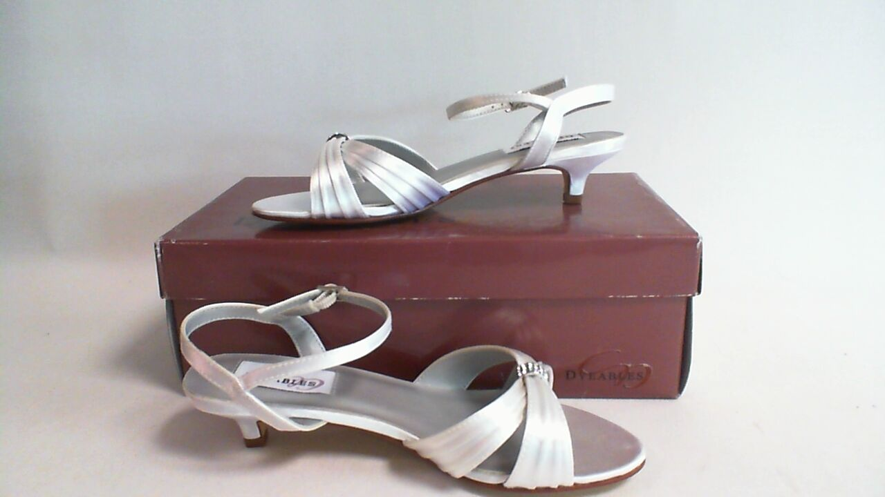 New Dyeables Wedding Shoes - White Satin - Fiesta - US 7B UK 5 #40B220