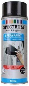 4-bombes-Peinture-spray-en-Aerosol-400ml-Bois-Metal-Plastique-Noir-metalic