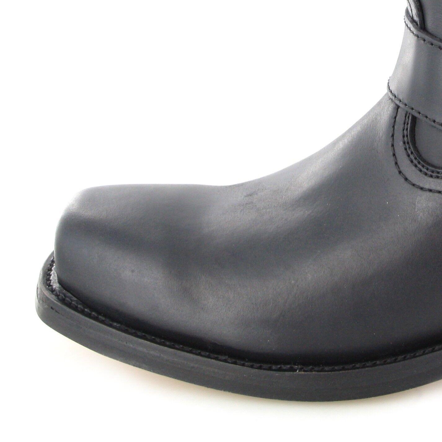 Buffalo stivali 1801 nero signore e e e signori Biker Stivali Nero Biker 12207c
