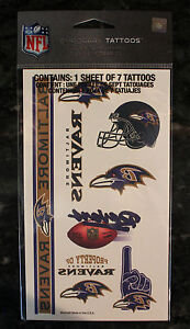Ravens temporary tattoo helmet nfl baltimore licinsed game for Ravens face tattoos