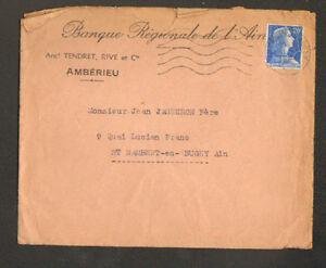 AMBERIEU-01-034-BANQUE-REGIONALE-DE-L-039-AIN-Anct-TENDRET-RIVE-amp-Cie-034-en-1957