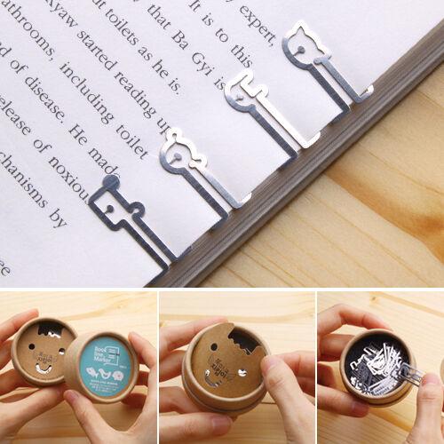 40pcs FARM IN THE BOOK Steel mini BOOKMARK clip type with case Korean fashion