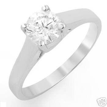 0.81 CTW CERTIFIED DIAMOND RING MADE 14K WG RRP  8169
