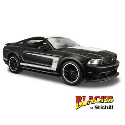 Ford Mustang Boss 302 negro mate coche modelo 1:24//maisto