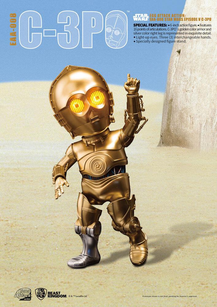 Vuelta de 10 dias Huevo De Ataque Figura de acción de la guerra de de de las galaxias Episodio V) C-3PO (15 Cm  Mejor precio
