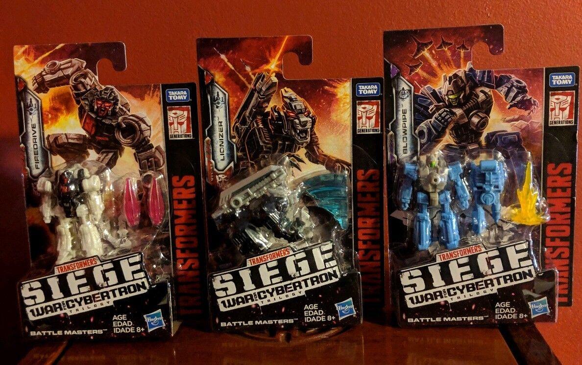 Transformers War For Cybertron Siege Battle Masters FIREDRIVE LIONIZER BLOWPIPE