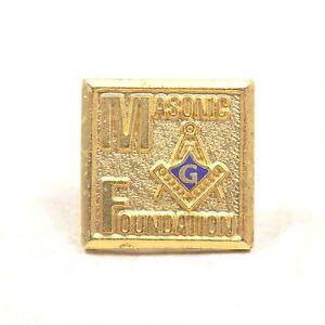 dcca8e718291 Image is loading Masonic-Foundation-Lodge-Pin-Freemason-Symbol-Vintage-Tie-
