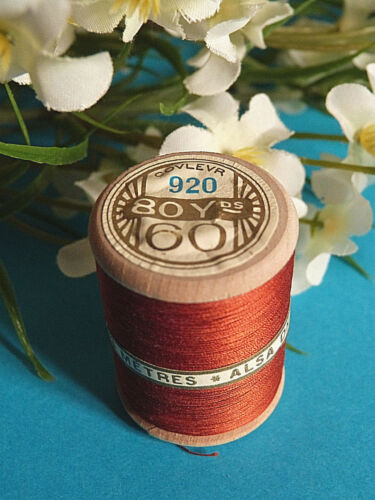 746bSplendid Spool of Thread Alsa for Embroidery No. 60 Brown Rust No. 920