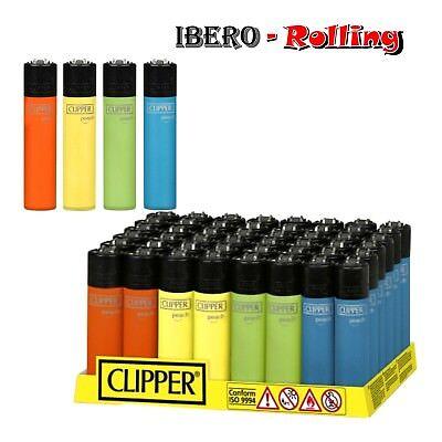 48 encendedores clipper peach de colores surtidos a elegir 48 unidades