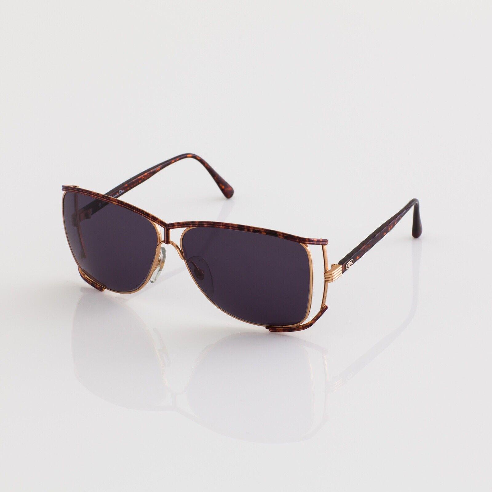 New Vintage Christian Dior CD 2688 Sunglasses C. Tortoise & Gold 63-12mm Italy