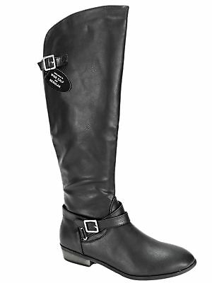 8d189a83971 Material Girl Women s Capri Wide Calf Knee-High Boots Black Size 7.5 ...