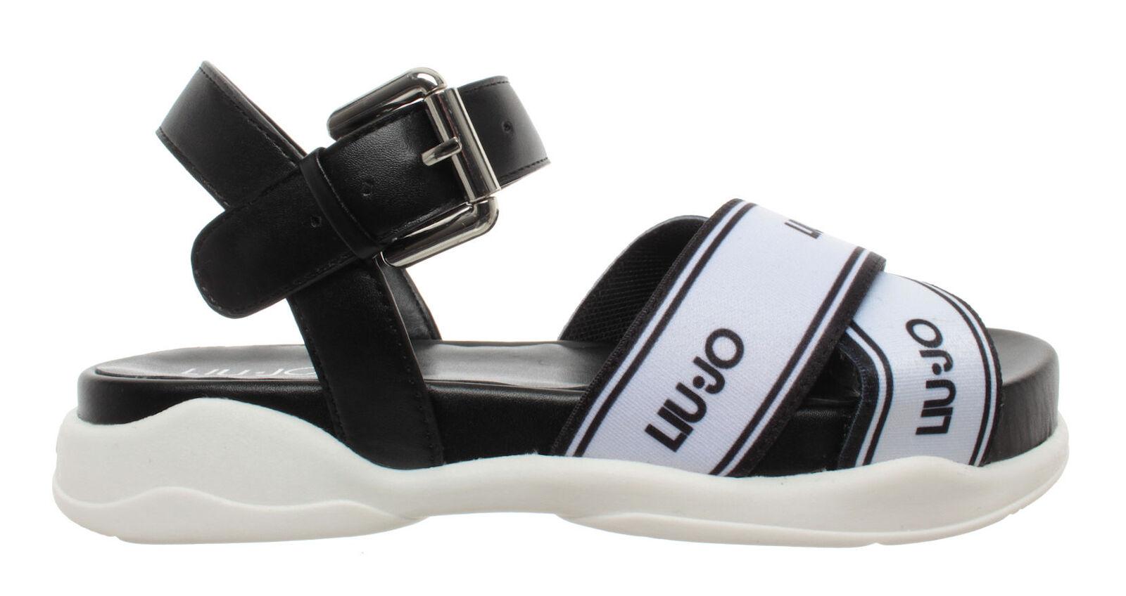 Para mujeres Zapatos Liu jo Milano Star 01 Sandalia Elástico difundir Negro Nuevo