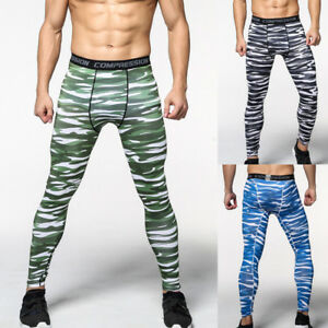 fa7c685226 Image is loading Mens-Sport-Compression-Pants-Bodybuilding-Jogger-Fitness -Exercise-