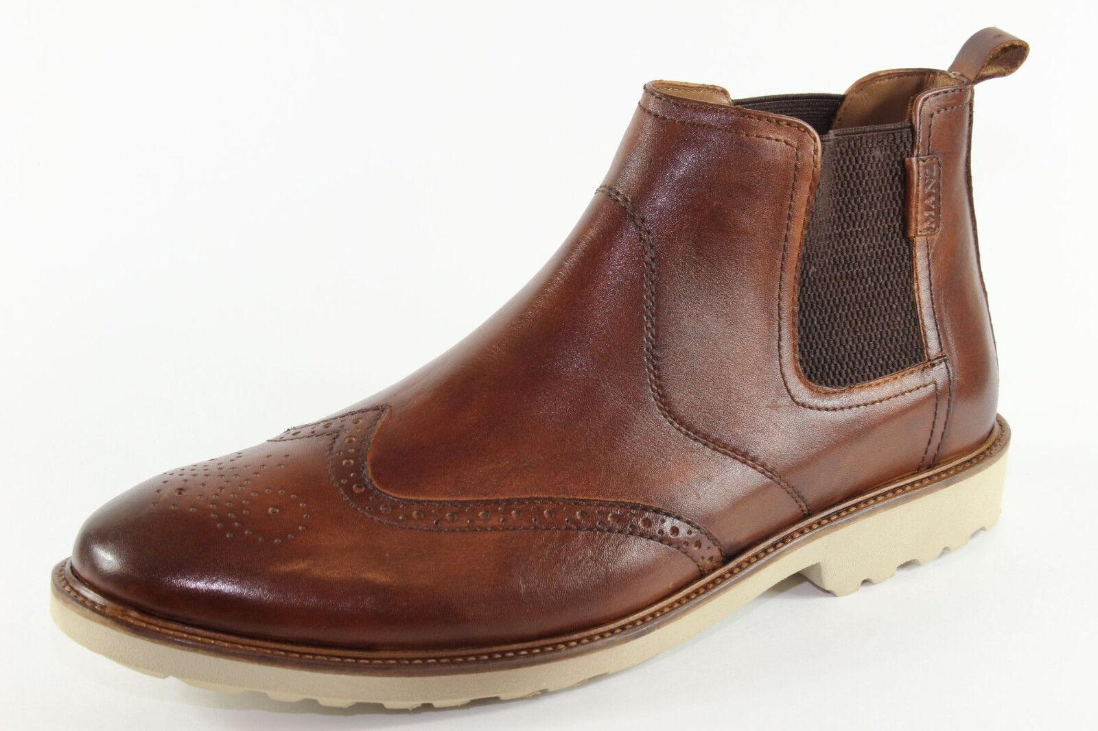 Manz 146057-03, schicke Chelsea Stiefel Übergröße