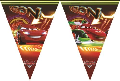 Disney Pixar Cars Neon Flag Pennant Banner Bunting Party Decoration