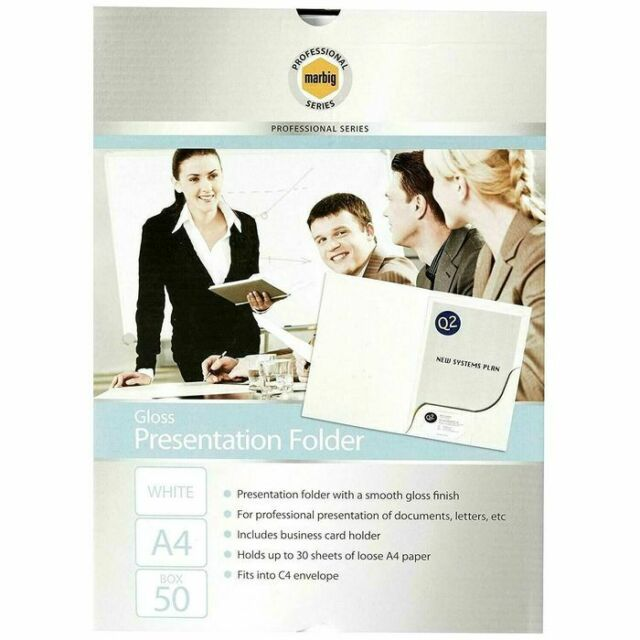 Corporate Presentation Folders A4 Gloss Pack of 50