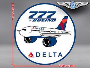DELTA AIR LINES ROUND PUDGY BOEING B777 DECAL / STICKER