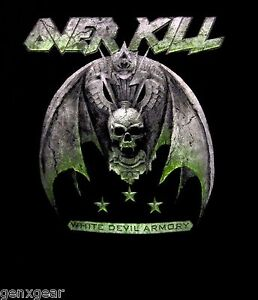 OVERKILL-cd-cvr-WHITE-DEVIL-ARMORY-Official-SHIRT-XXL-2X-New-2-sided